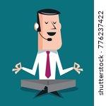 calm salesperson sitting in... | Shutterstock .eps vector #776237422