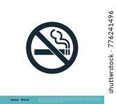 no smoking icon vector logo... | Shutterstock .eps vector #776241496