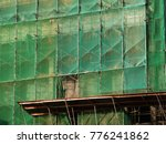 scaffolding and green safety... | Shutterstock . vector #776241862