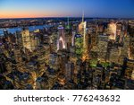 travel usa  new york. aerial... | Shutterstock . vector #776243632