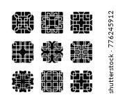 abstract shape element set   Shutterstock .eps vector #776245912