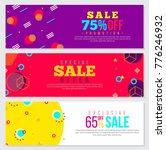 memphis style banner design set ... | Shutterstock .eps vector #776246932