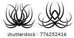 set of two vector desings.... | Shutterstock .eps vector #776252416