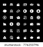 money icons set | Shutterstock .eps vector #776253796