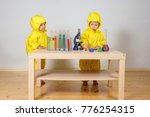 children play chemists game at... | Shutterstock . vector #776254315