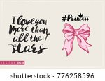 bridal greeting card with... | Shutterstock .eps vector #776258596