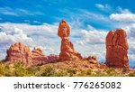 balanced rock  one of the most... | Shutterstock . vector #776265082