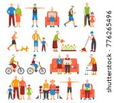 set of isolated senior people... | Shutterstock . vector #776265496