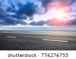 empty asphalt highway and blue...   Shutterstock . vector #776276755