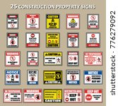set of private property no... | Shutterstock .eps vector #776279092