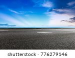 empty asphalt highway and blue... | Shutterstock . vector #776279146