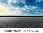 empty asphalt highway and blue...   Shutterstock . vector #776279668