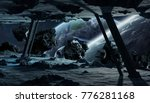 astronauts exploring a huge... | Shutterstock . vector #776281168