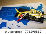 knotted net cable over a... | Shutterstock . vector #776295892