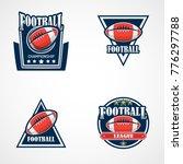 set of american football logo... | Shutterstock .eps vector #776297788