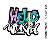 hello world  hand craft...   Shutterstock .eps vector #776324155