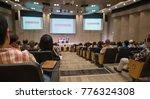audience view  speaker speech... | Shutterstock . vector #776324308