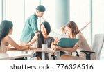 teamwork business concept ... | Shutterstock . vector #776326516