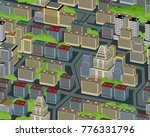 vector illustration of city... | Shutterstock .eps vector #776331796