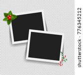 xmas photo frame with gradient... | Shutterstock . vector #776345212