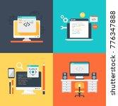 set of design development... | Shutterstock .eps vector #776347888