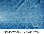 close up blue jeans denim...   Shutterstock . vector #776347942