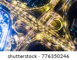 night traffic aerial view... | Shutterstock . vector #776350246