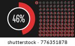 set of circle percentage... | Shutterstock .eps vector #776351878