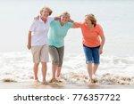 lovely group of three senior... | Shutterstock . vector #776357722