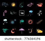 weather icons set | Shutterstock .eps vector #776364196