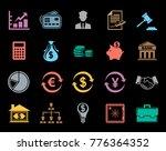 finance icons set | Shutterstock .eps vector #776364352