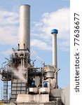 chemical and oil refinery - stock photo