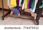 kid play hide and seek. hiding... | Shutterstock . vector #776375512