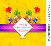 illustration of makar sankranti ... | Shutterstock .eps vector #776377432