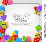 illustration of happy makar... | Shutterstock .eps vector #776377492