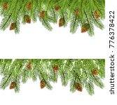 set of spruce branches with... | Shutterstock .eps vector #776378422