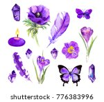 set of ultra violet things  ... | Shutterstock . vector #776383996