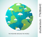 the weather condition around... | Shutterstock .eps vector #776386642