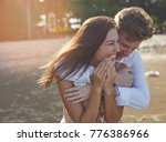 young couple girl and guy... | Shutterstock . vector #776386966