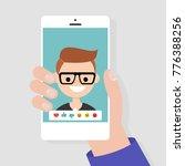 social media icons. reactions ... | Shutterstock .eps vector #776388256