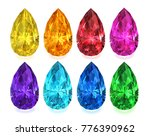 set of multicolored precious... | Shutterstock .eps vector #776390962