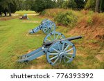 Grand French Battery at the Yorktown Battlefield in the State of Virginia