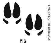pig step icon. simple... | Shutterstock .eps vector #776397676