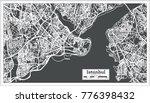 istanbul turkey map in retro... | Shutterstock .eps vector #776398432