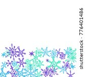winter pattern with cute doodle ... | Shutterstock .eps vector #776401486