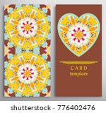 set of decorative cards with... | Shutterstock .eps vector #776402476