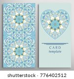 set of decorative cards with... | Shutterstock .eps vector #776402512