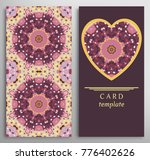 set of decorative cards with... | Shutterstock .eps vector #776402626