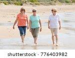lovely group of three senior... | Shutterstock . vector #776403982
