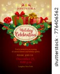holiday party invitation with... | Shutterstock .eps vector #776406562